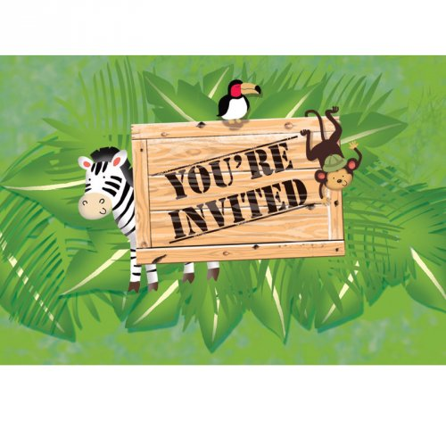 8 Invitations Safari Aventure