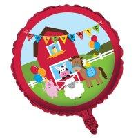 Contient : 1 x Ballon Mylar Happy Ferme
