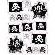 4 Planches stickers Pirate rebel