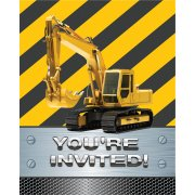 8 Invitations Attention Chantier !