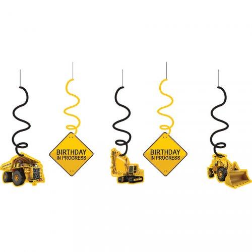 5 Guirlandes Spirales  Attention Chantier !