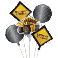 Contient : 1 x 5 Ballons mylar Attention Chantier !