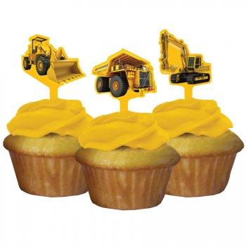 12 Pics à Cupcakes Attention Chantier !