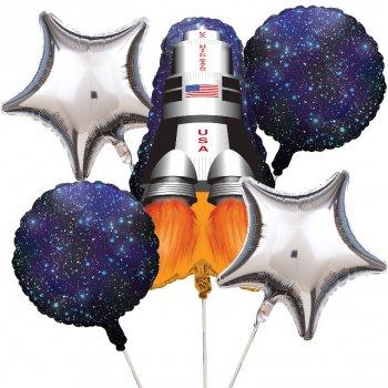 5 Ballons mylar Espace