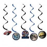 5 Guirlandes Spirales Espace