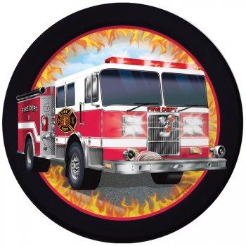 8 Petites Assiettes Pompier Rescousse