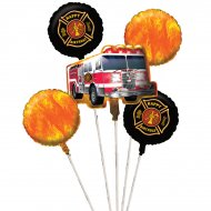 5 Ballons mylar Pompier Rescousse