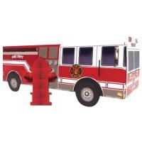 Contient : 1 x 2 Centres de table Pompier Rescousse