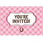 8 Invitations Mon Joli Cheval