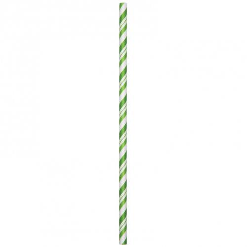 24 Pailles Papier Vintage Vert