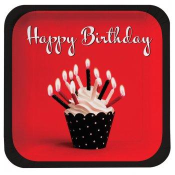 8 Assiettes Birthday Passion