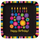 8 Petites assiettes Birthday Pop