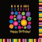 16 Serviettes Birthday Pop