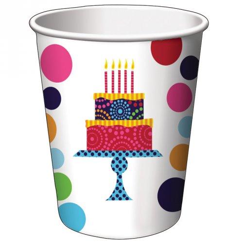 8 Gobelets Birthday Elegance