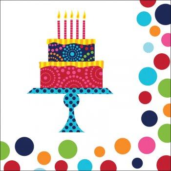16 Serviettes Birthday Elegance