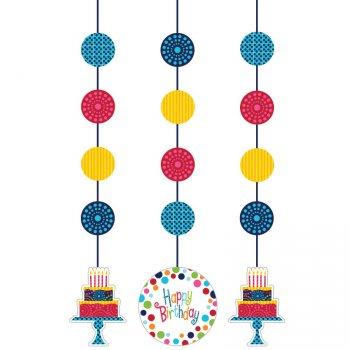 3 Décos à suspendre Birthday Elegance