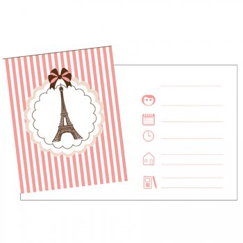 8 Invitations Parisienne