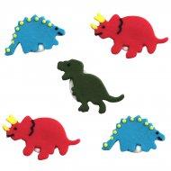 5 Décors en sucre Dinosaure
