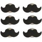 6 Décors en sucre Moustache