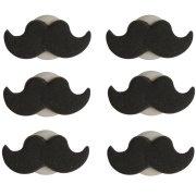6 D�cors en sucre Moustache