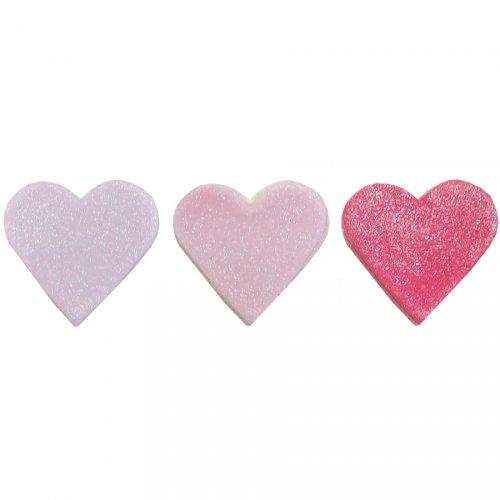 6 Décors en sucre Coeur