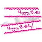 Contour de g�teau Happy Birthday Girly