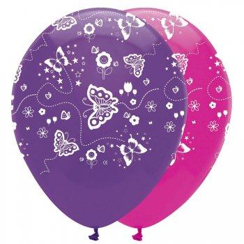6 Ballons Papillons Fun