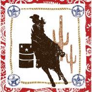 16 Serviettes Texas Cowgirl