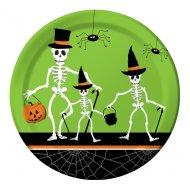 8 Petites assiettes Dancing Squelettes
