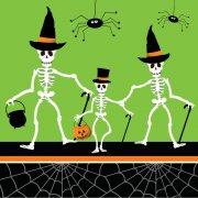 18 Serviettes Dancing Squelettes