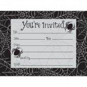 8 Invitations Toile d'araign�e