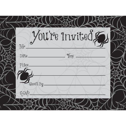 8 Invitations Toile d araignée