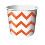 6 Pots � bonbons Chevrons Blanc/Orange