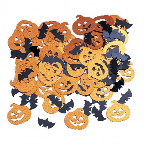 Confettis Citrouille et chauve souris