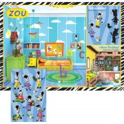 8 Sets de table ludique avec stickers Zou