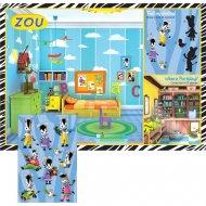 8 Sets de table ludique avec stickers Zou
