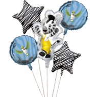 5 Ballons Mylar Zou