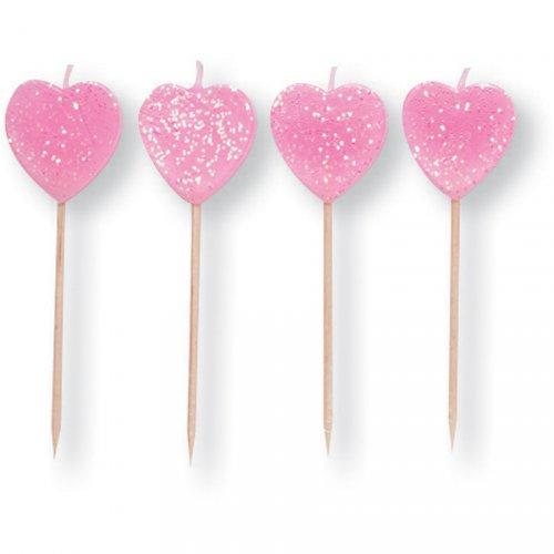 10 Bougies à Piquer Coeurs
