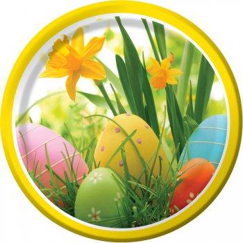 8 Assiettes oeufs de Pâques