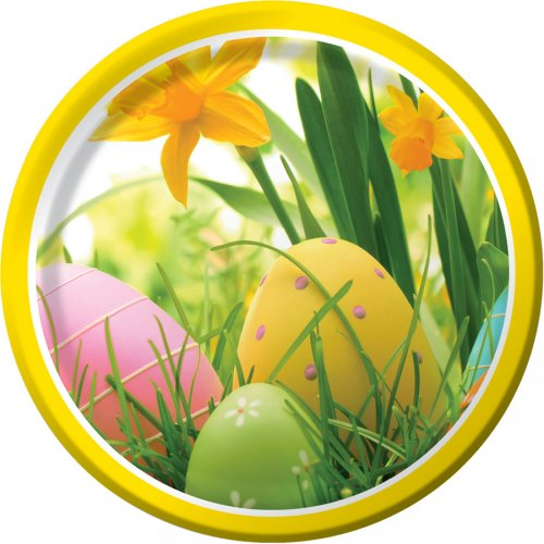 8 Petites Assiettes oeufs de Pâques
