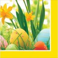 18 Petites Serviettes Oeufs de Pâques