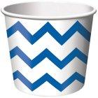6 Pots � bonbons Chevrons Bleu/Blanc