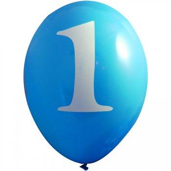 6 ballons 1 an Bleu