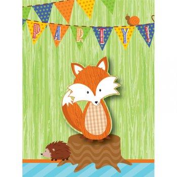 8 Invitations Fox le Renard