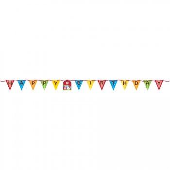 Guirlande Fanions Happy Birthday Happy Ferme