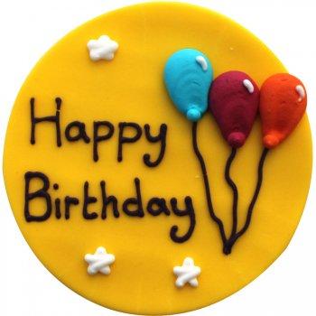 Plaque Happy Birthday Ballons
