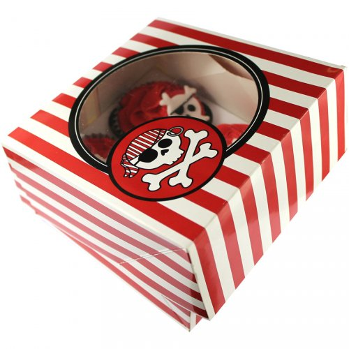 2 Boites à Gâteaux et Cupcakes Pirate Rebel
