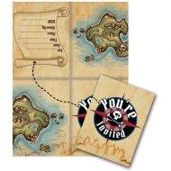 8 Invitations Île au trésor