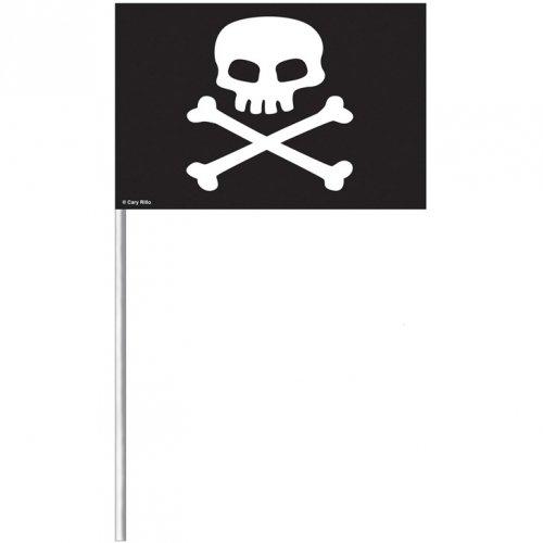 8 Drapeaux Pirate Tête de Mort