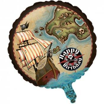 Ballon Mylar Île au trésor